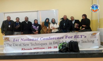 the first « ELT National Conference »  which took place in Khemis Milliana