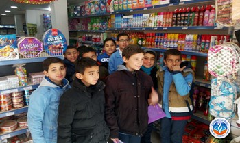 Tawenza school students 2MS practicing quantifiers at supermarket